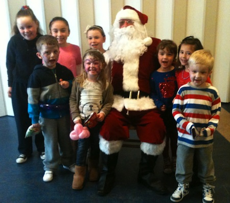 photo of Santa Claus at children's party